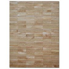 Patchwork Cowhide St. Etienne Wheat Rug