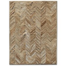 <strong>Pure Rugs</strong> Patchwork Cowhide Yves Wheat Rug