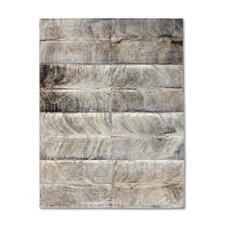<strong>Pure Rugs</strong> Patchwork Cowhide Oak Exotic Zebu Rug