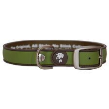 All Style Simply Solid Olive and Brown No Stink Dog Collar