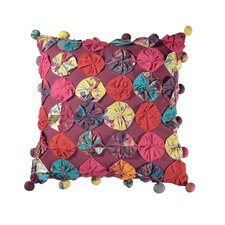 Flower Patch Cotton Accent Pillow