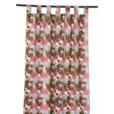 Jungle Cotton Tab Top Window Curtain Single Panel