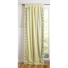 Cotton Rod Pocket Window Curtain Single Panel
