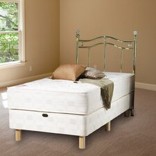 Nancy Hand Tufted Open Coil Sprung Mattress with Damask Cover
