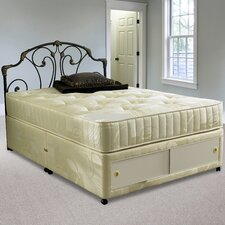 Nantes Quilted Open Coil Sprung Mattress with Damask Cover