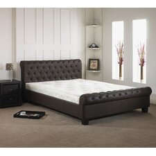 Chesterfield Real Leather Bed Frame