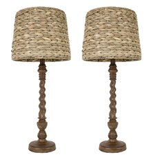 "Darkbo 29"" H Table Lamp with Empire Shade (Set of 2)"