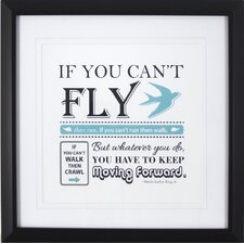 Typography Fly Framed Textual Art
