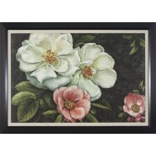 Floral Damask Framed Graphic Art