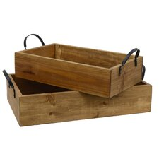 Pine Wood Tray (Set of 2)