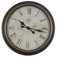 "24"" Global Antique Map Wall Clock"