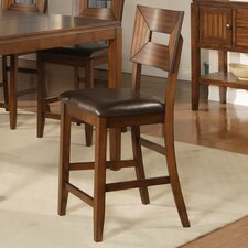 Palos Verdes Counter Height Barstool in Distressed Walnut