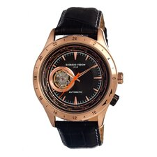 Traveler Men's Leather Watch