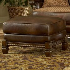 Windsor Court Leather Ottoman