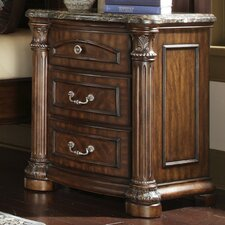 <strong>Michael Amini</strong> Monte Carlo II 3 Drawer Nightstand