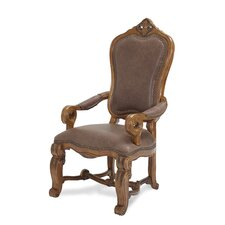 <strong>Michael Amini</strong> Tuscano Arm Chair in Biscotti