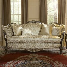 <strong>Michael Amini</strong> Imperial Court Wood Trim Sofa