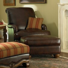 Toscano Leather Chair and Ottoman