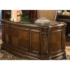 Windsor Court Executive Desk with Glass Top