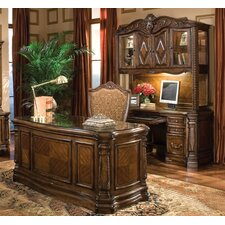 <strong>Michael Amini</strong> Windsor Court Standard Desk Office Suite
