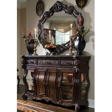 <strong>Michael Amini</strong> Essex Manor Sideboard and Mirror