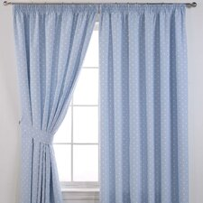 Dotty Self Blackout Pencil Pleat Curtains