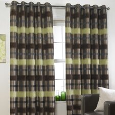 Portabello Lined Eyelet Curtains