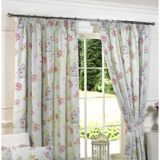 "Duck Egg ""Charlotte"" Lined Pencil Pleat Curtains (Set of 2)"