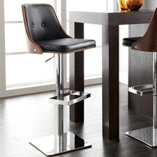 "Braiden 23"" Adjustable Bar Stool with Cushion"
