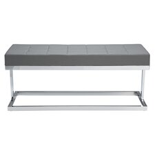 Viceroy Metal / Leather Entryway Bench