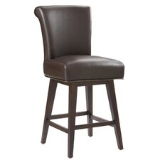 <strong>Sunpan Modern</strong> Hamlet Swivel Bonded Leather Stool