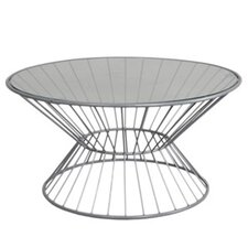 Wire Coffee Table with Glass Top
