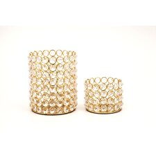 <strong>Fashion N You by Horizon Interseas</strong> Crystal Bead Tealights (Set of 2)