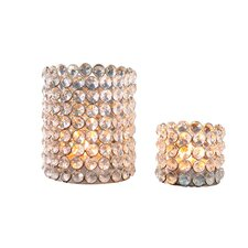 Crystal Beaded Tealight Set