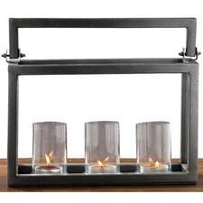 <strong>Fashion N You by Horizon Interseas</strong> Hampton Iron / Glass Candelabra