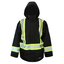 Professional 300D Trilobal Rip Stop Fire Resistant Jacket with Hood