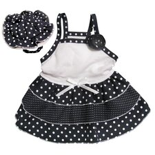 "<strong>Klippo Pet</strong> Adorable and ""Dazzling Polka Dots"" Dog Sundress with Matching Hat"