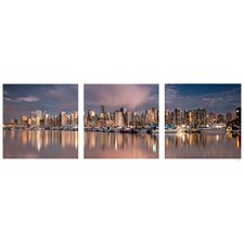 City Skyline 3 Piece Photographic Print Set