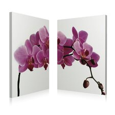 <strong>Artistic Bliss</strong> Pink Orchid Wall Art (Set of 2)