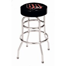 NASCAR Double Rung Bar Stool vwith Cushion