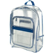 Transparent Vinyl Backpack with Organizer Pouch