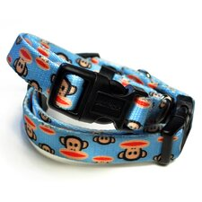 <strong>26 Bars & A Band</strong> Paul Frank Signature Julius Pale Blue Dog Collar