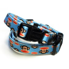 Paul Frank Signature Julius Pale Blue Dog Collar