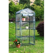 "4 Tier 17"" W x 29"" D Growing Rack Greenhouse"