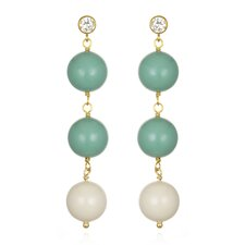 Timeless Beauty Crystal Jade Pearl and Crystal Pearl Gabrielle Earrings
