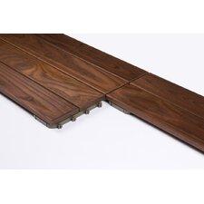 "Wood 23.425"" x 7.835"" Interlocking Deck Tiles in Brown (Set of 5)"