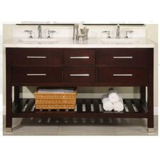 "Priva 60"" Open Double Bathroom Vanity Set"