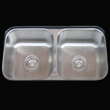<strong>Empire Industries</strong> Double Undermount Kitchen Sink
