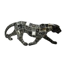 Mosaic Animal Leopard Walking Figurine