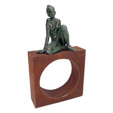 Geometric Models - Girl on Circle Statue